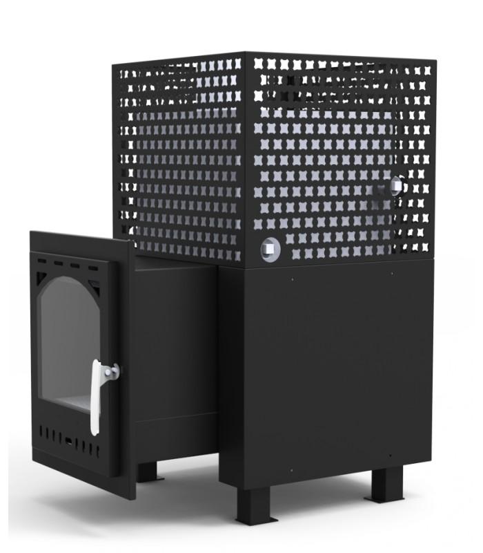 Pk2 avec changeur d 39 eau de 2 5 kw - Sauna exterieur poele bois ...