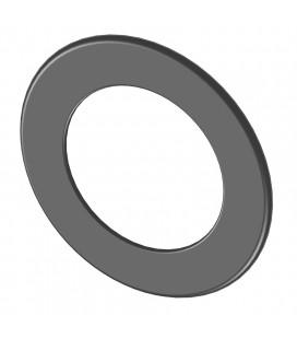 Rosace de finition en acier de 0,6mm d'épaisseur (diamètre : 120, 130, 150, 160 et 200mm)