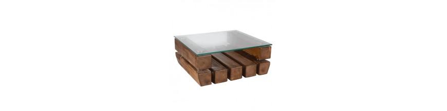 Socle avec mélange de bois et de verre KANUG ORIGINAL